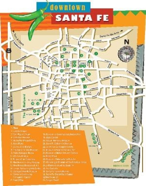 Downtown Santa Fe Map