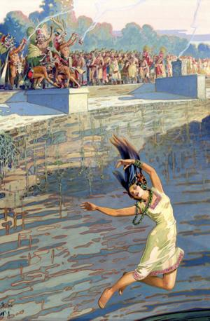 Ancient Maya virgin sacrifice