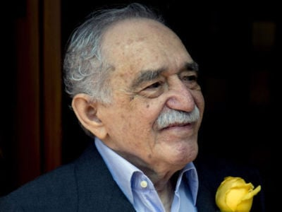 <p>In this March 6, 2014, file photo, Colombian Nobel Literature laureate Gabriel Garcia Marquez greets fans and reporters outside his home on his 87th birthday in Mexico City.  Marquez died Thursday April 17, 2014 at his home in Mexico City. Eduardo Verdugo/The Associated Press</p>
