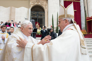 Francis presides over historic day of 4 popes