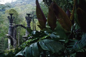In Mexican jungle, surreal art garden bewilders