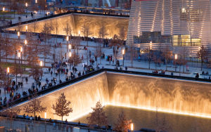 Architectural rendering of National September 11 Memorial & Museum