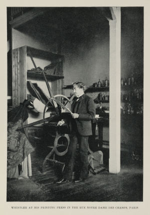 Whistler in his studio