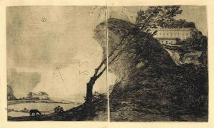 Rocky Outcrop and Leaning Trees