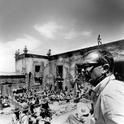 <p>Sam Peckinpah on the set of <em>The Wild Bunch</em> in 1969</p>