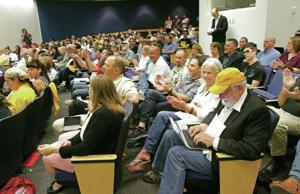 Proposed medical pot program changes draw hundreds to heated hearing