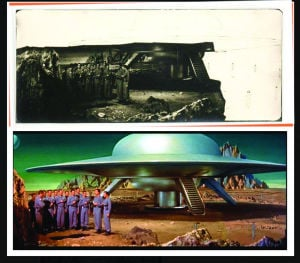 Forbidden Planet matte painting