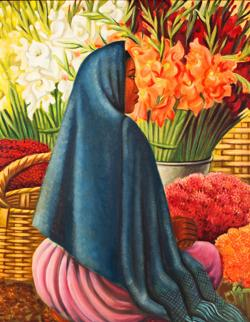 <p>Miguel Covarrubias:<em>Tehuantepec</em>, circa 1943, oil on canvas, © María Elena Rico Covarrubias, from the Adriana and Tom Williams Collection at the Harry Ransom Center, University of Texas-Austin</p>