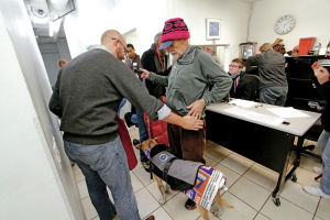 Winter's onset heightens demand for shelters, food aid