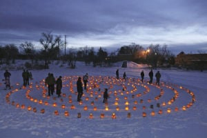 A labyrinth of light: Winter Solstice celebration brightens the longest night