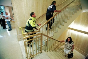 Capitol's top floor emptied due to suspicious powder