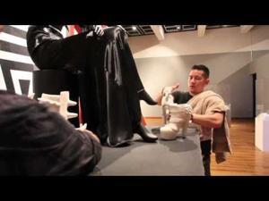 """Watch video: Cochiti Pueblo artist Virgil Ortiz featured in """"Killer Heels"""" exhibit"""