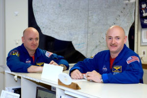 Identical twins offer up selves for space science