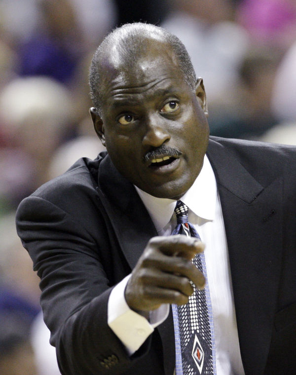 <p>In this July 22, 2009, file photo, Los Angeles Sparks coach Michael Cooper directs his team against the Seattle Storm in the second overtime of a WNBA basketball game in Seattle. Associated Press file photo</p>