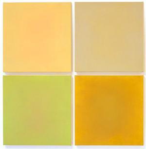 Anne Appleby's single-color painting arrangements