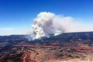 Wildfire forces Navajo evacuations; Jemez blaze contained