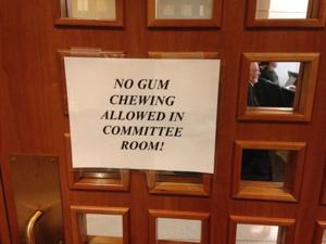 Bill barring guns in Capitol heats up committee; gum ban causes no stir