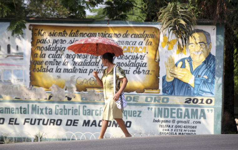 Mixed feelings for Garcia Marquez in hometown
