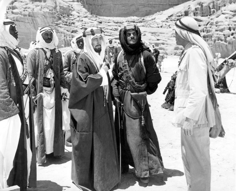 alec guinness, omar sharif & peter o'toole - lawrence of arabia 1962