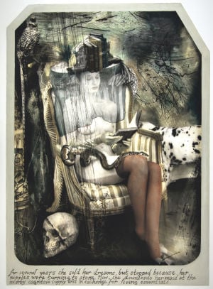 <p>Joel-Peter Witkin: <em>The Reader, Paris</em>, 2010, hand-painted toned silver gelatin print, ©Joel-Peter Witkin</p>