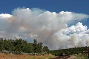 Isolated residents faced with choice to stay or go as smoky Diego Fire grows