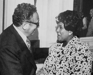 Ethel Payne with Henry Kissinger