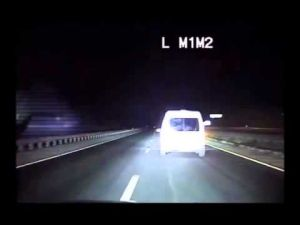 New Mexico State Police chase wrong-way driver