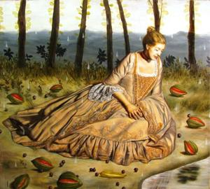 <p>Francisco Benítez:<em>Doña Inés Among Strange Fruit</em>, 2014, oil on canvas</p>