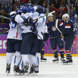Finland routs U.S. 5-0 for bronze in Olympic hockey