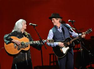 Old friends: Emmylou Harris and Rodney Crowell