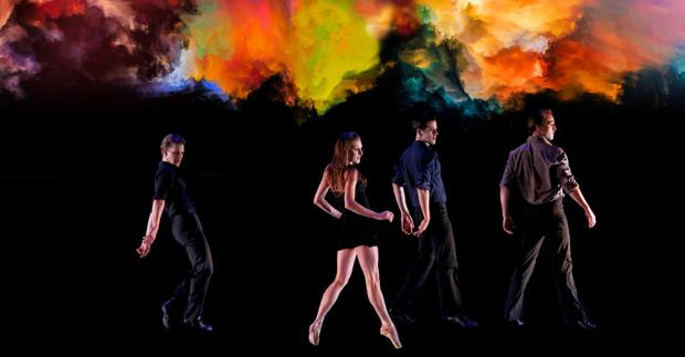 New York City Ballet Troupe: Daniel Ulbricht, Tiler Peck, Robert Fairchild, and Andrew Veyette