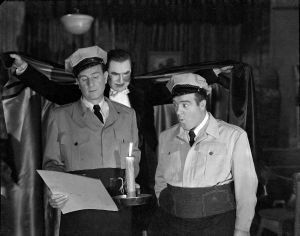 Bud Abbott, Béla Lugosi, and Lou Costello