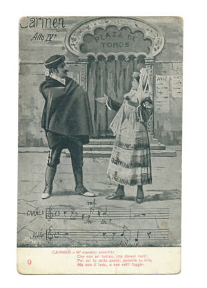 Act IV — Carmen refuses to yield to Don José