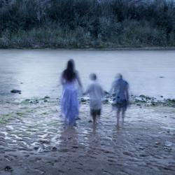 <p><em>La Llorona With Children</em>, 2014 photograph by Angel Wynn. Inspired by a ghostlike lens flare she captured during a shoot at an Anasazi ruin, Wynn began a series of haunting photographs, taken at historic New Mexico locations, where she used live models to portray the disembodied beings. <em>Ghost Dance: Spirits & Angels</em> opens Friday, Oct. 31 at American Indian Photography and Encaustic Studio, 1036 Canyon Road.</p>