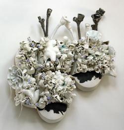 <p>Susan Beiner: <em>Unintended Consequences,</em> porcelain, 2008</p>
