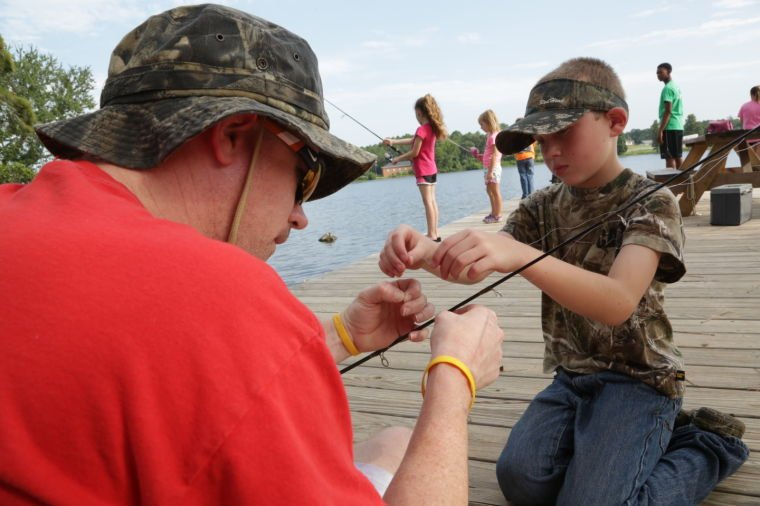 Hartsville ymca fishing camp featured for Fishing camps for kids