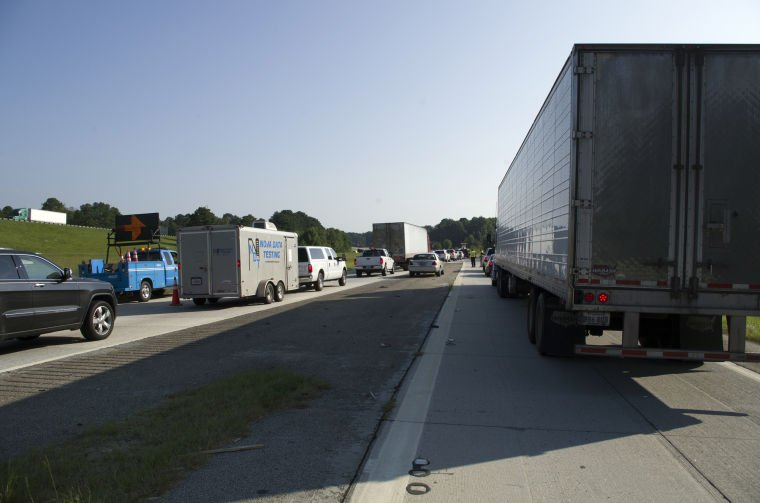 truck fire stops traffic on i-95 northbound
