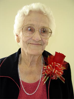 <b>Carrie Huggins</b> Feted at 90 - 50e20bdc5add5.image