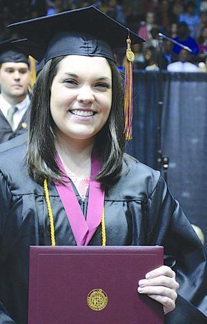 Keslie Blackwell, winner of Winthrop University's Tillman Award