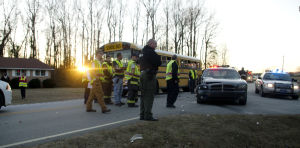 National Cemetery Road school bus crash
