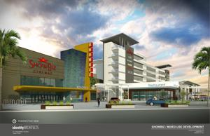 Artists Rendering of Homestead Entertainment/Parking Complex