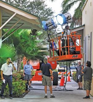 Filming at Florida City City Hall