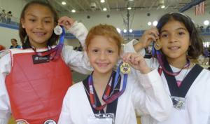 From left: Alexandria Moreno, Casey Jo Ramos and Amaesha Moreno