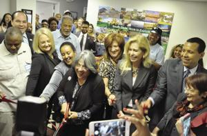 Commissioner Daniella Levine-Cava cuts the ribbon to open the new Accelerate South Dade Incubator