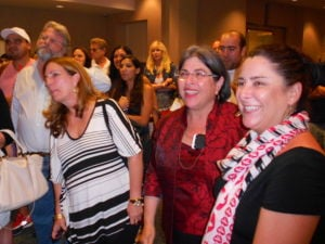<p>Daniella Levine Cava (middle) celebrates her victory for County Commissioner of District 8.</p>