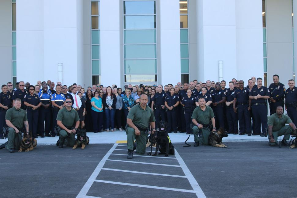 Homestead Police staff, officers and K-9 team