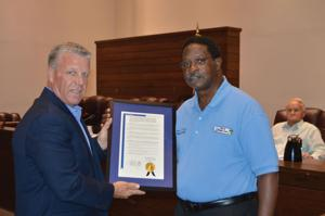 Commissioner Berry receives award