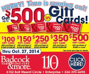 Badcock Ad - October 14 - October 27, 2014