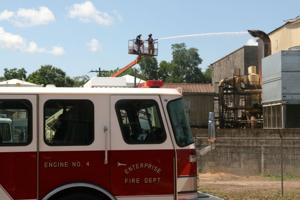 Firefighters respond to fire at Sessions plant