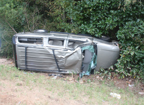 One injuried in Highway 84 rollover